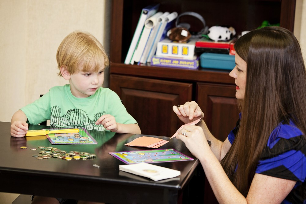 Janey Macey works with child